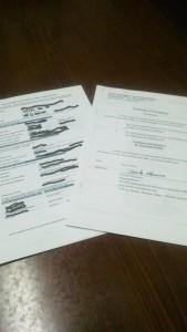公証人の証明が付保されたカナダ渡航同意書